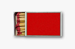 Open red match box. On white background Royalty Free Stock Image