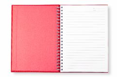 Open Red Note Book Stock Photos