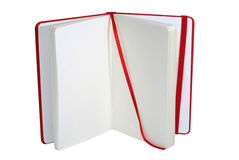 Open red notebook Royalty Free Stock Photos