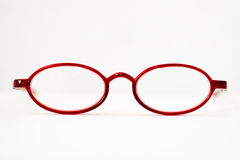 Open red reading glasses Stock Photography