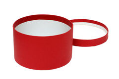 Open red round box Royalty Free Stock Photo