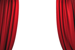 Free Open Red Stage Curtains Stock Photos - 85878263