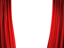 Open red stage curtains Stock Images