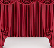Open red theater curtain Royalty Free Stock Images