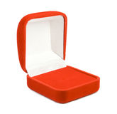 Open red velvet jewellry box Stock Photography