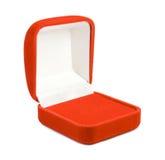 Open red velvet jewellry box Stock Photography