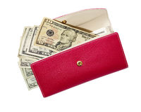 Open red wallet Stock Photography