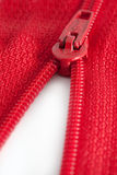 Open red zipper Stock Photos