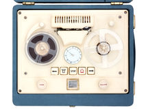 Open Reel Tape Recorder Stock Image