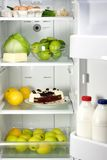 Open refrigerator Stock Photography