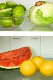 Open refrigerator Stock Images