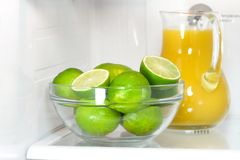 Open refrigerator Stock Photo