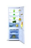 Open refrigerator. Fridge freezer Royalty Free Stock Images
