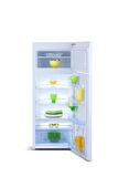 Open refrigerator. Fridge freezer Royalty Free Stock Photography