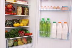 Refrigerator full of food Royalty Free Stock Image