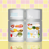 Open refrigerator Royalty Free Stock Photography