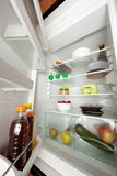 Open refrigerator Stock Photos
