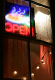 Open restaurant neon sign Royalty Free Stock Photography
