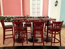 Open Restaurant with Table Chair Royalty Free Stock Images