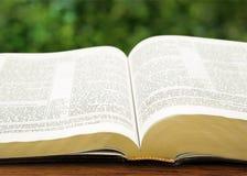 Open revelation. Book old sky testament nobody christian Royalty Free Stock Photo