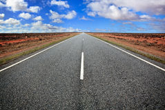Open Road. In the Australian outback, western New South Wales Royalty Free Stock Images