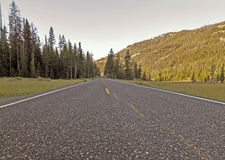 Open Road. Road getting leading into the mountains stock images