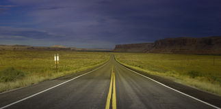 Open Road. This is an image of an open road in Utah near the Arizona border Stock Images