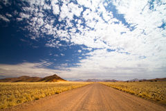 Open road. Gravel road in open spaces, Namibia Stock Images