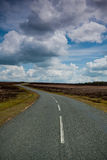 Open road. Winding road through the New Forest national park royalty free stock image