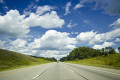 Open road ahead Royalty Free Stock Photos