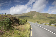 Open Road alongside Lough Killary Fjord Lake; Leenane, Connemara Stock Photos
