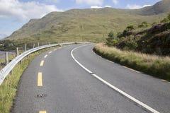 Open Road alongside Lough Killary Fjord Lake; Leenane, Connemara Royalty Free Stock Images