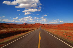 Open Road. Arizona/Utah Desert Royalty Free Stock Image
