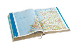 Open road atlas on a light background Stock Image