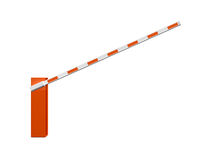 Open Road Barrier for Entrance Stock Photography