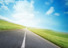 Open Road. An open road through beautiful countryside Stock Photography