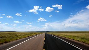 Open Road. With beautiful sky Stock Photos