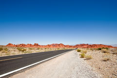Open road and blue sky Stock Photos