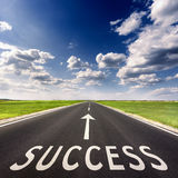 Open road business concept for the success Stock Images