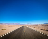 Open road, Death Valley, California Stock Images