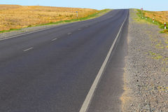 Open road.The highway in the desert. Royalty Free Stock Photo