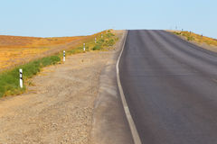 Open road.The highway in the desert. Stock Images