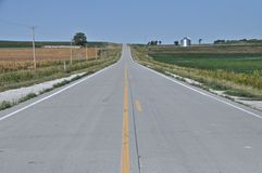 Open Road Iowa Stock Photo