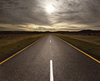 Open road leading into the light Royalty Free Stock Photography