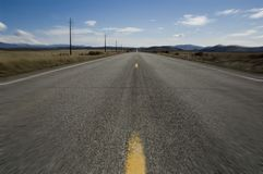 Open road with motion blur Stock Photos