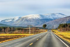 Open road in the mountains royalty free stock images