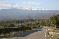 Open Road near Gorges de la Nesque Canyon, Provence Stock Photography