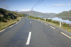 Open Road near Killary Fjord, Connemara National Park; Galway Royalty Free Stock Photos