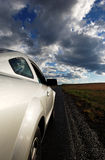 Open Road In New Mexico. This is an image of a car on the side of an open highway running through central New Mexico Royalty Free Stock Photography