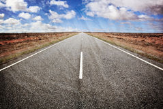 Open Road Old Photo Style Royalty Free Stock Photos
